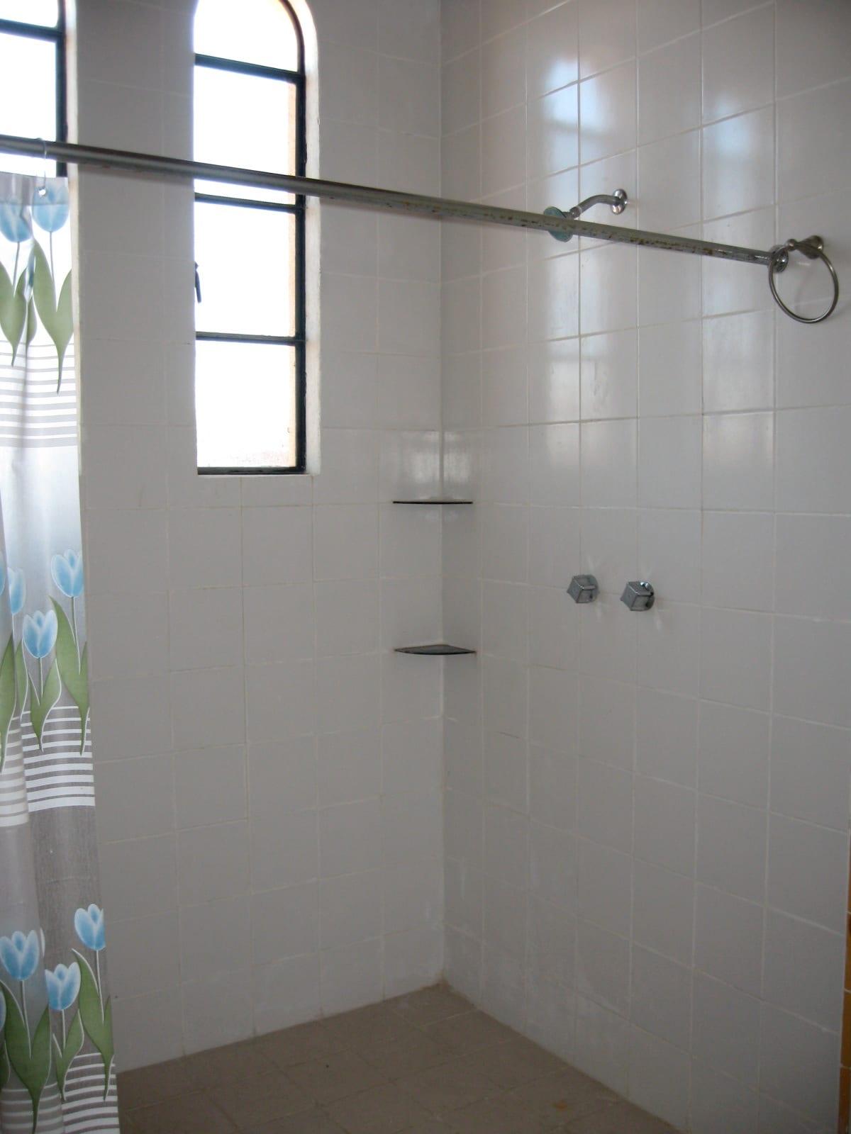 Your en suite bathroom has a large walk-in shower!