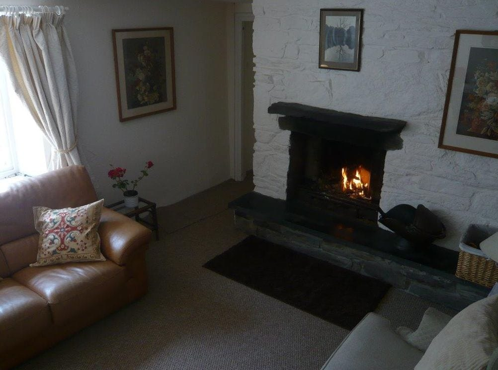 The charming fireplace