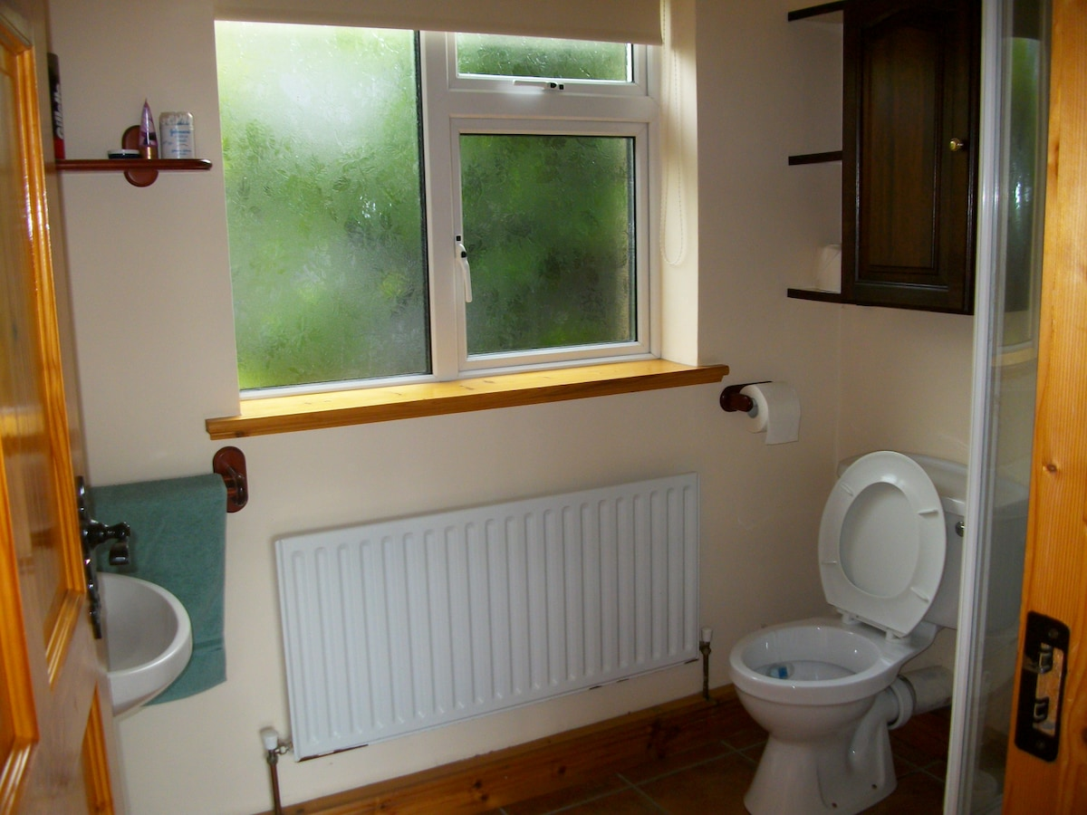 Ensuite shower / toilet [no bath] downstairs off master bedroom