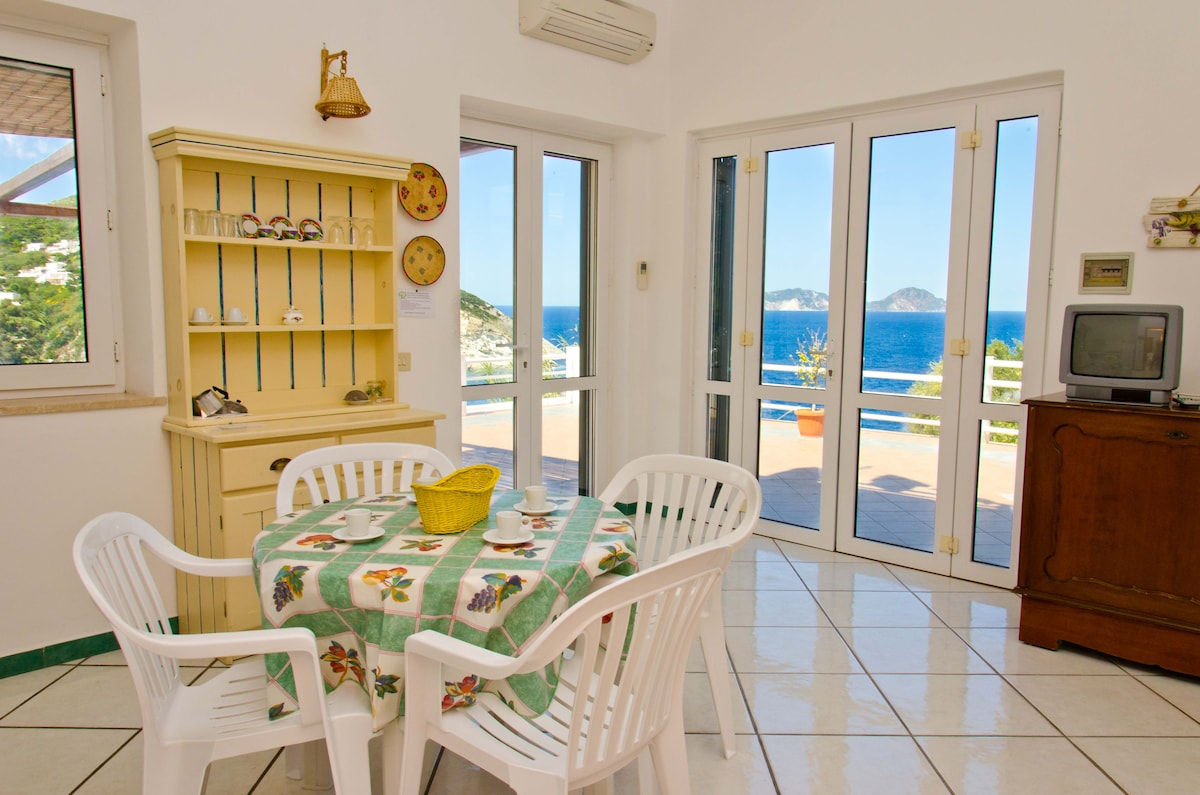 Waking up in Paradise, Ponza ... Enjoying the view. Our home is your home, the heart of which is in the kitchen