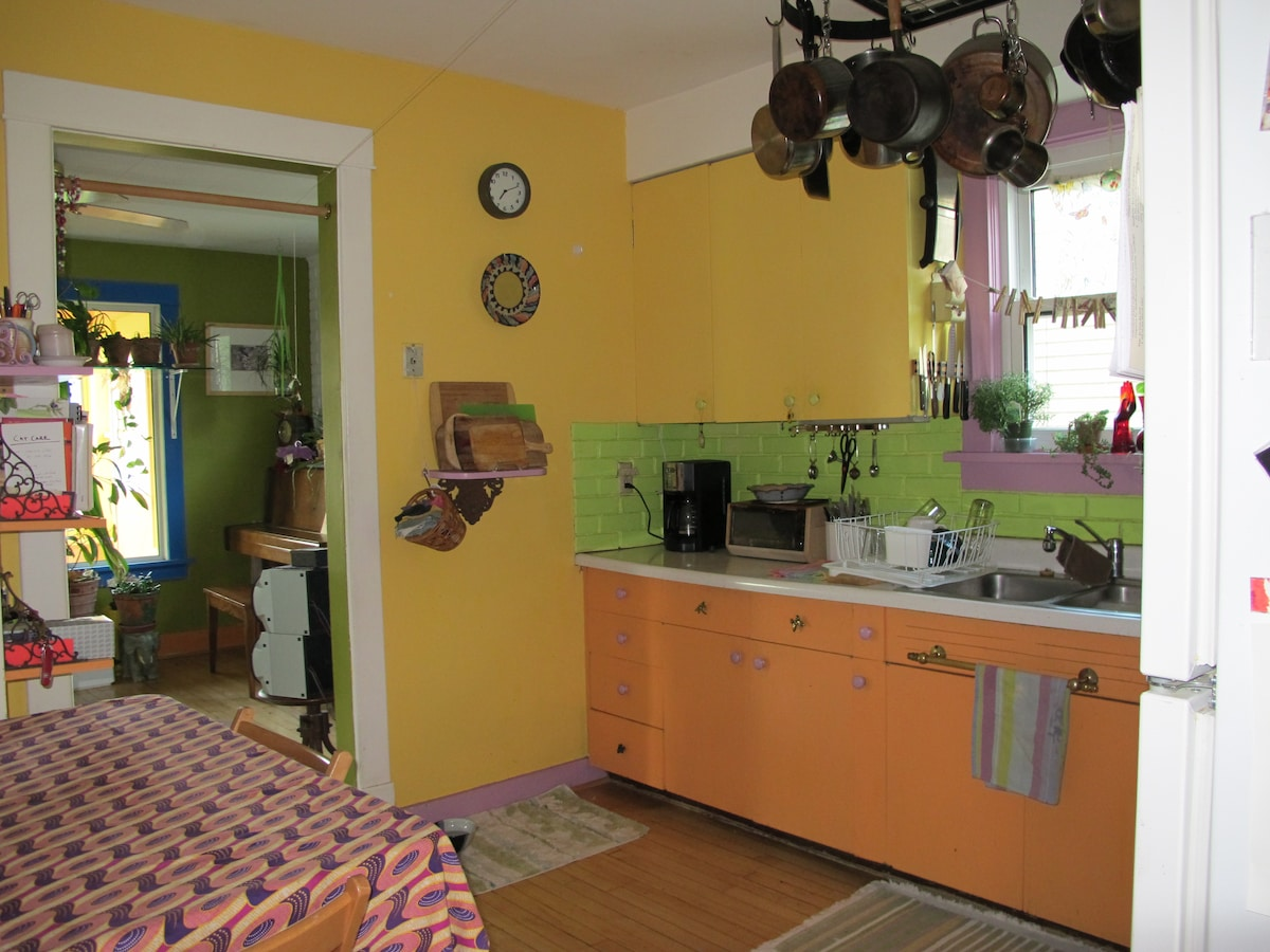 You are welcome to use the fully equipped kitchen.