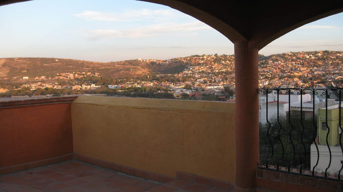 Another view from the rooftop terrace.
