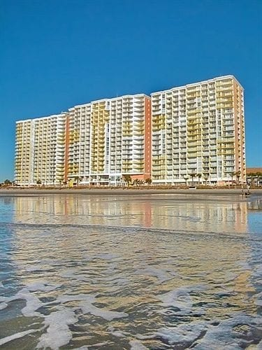 Towers of Bay Watch Resort as seen from Banana Boat