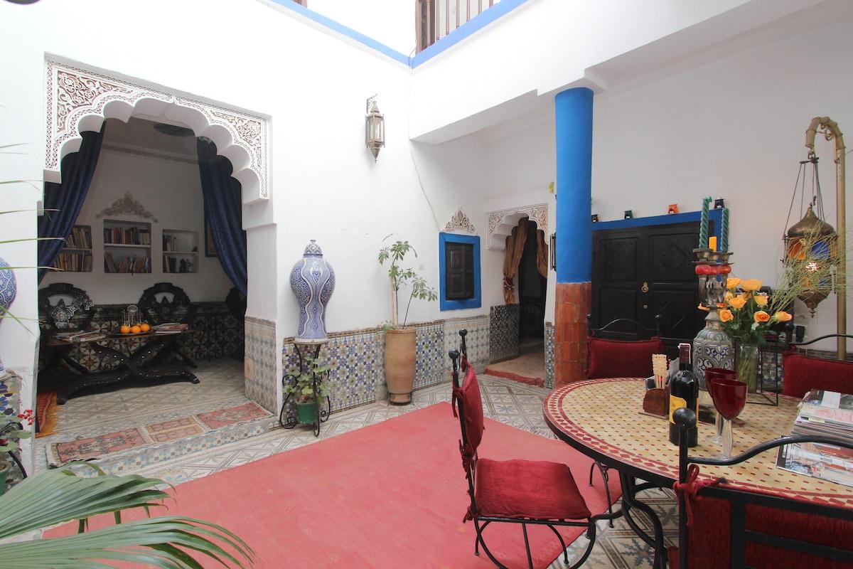 Riad in central Medina, Marrakesh