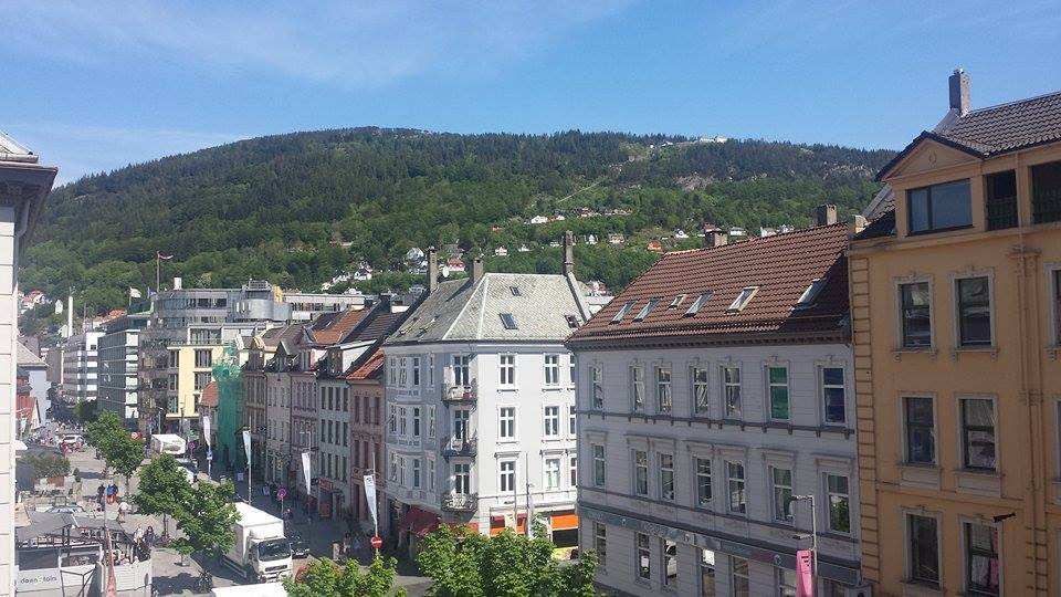 city view in the heart of Bergen