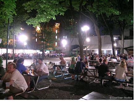 The beer garden in Astoria