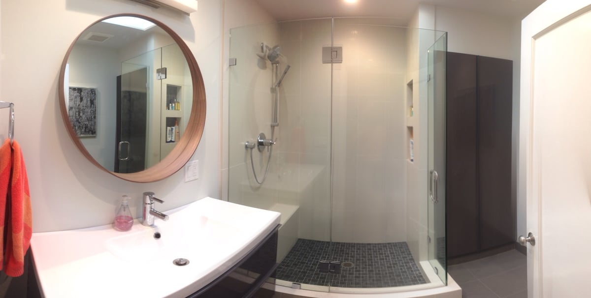 Our newly renovated bathroom