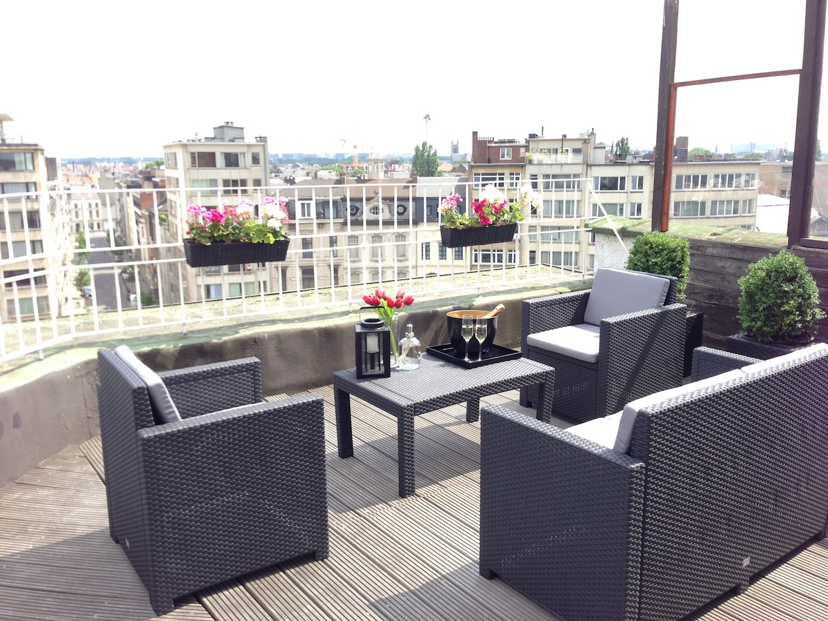 A terrace with a view