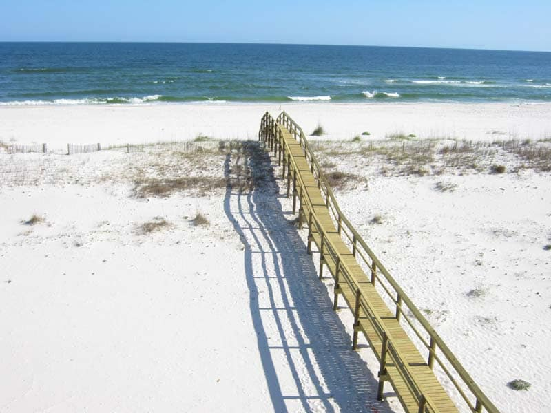 Ledlow Beach House - walkway to the gulf, water view