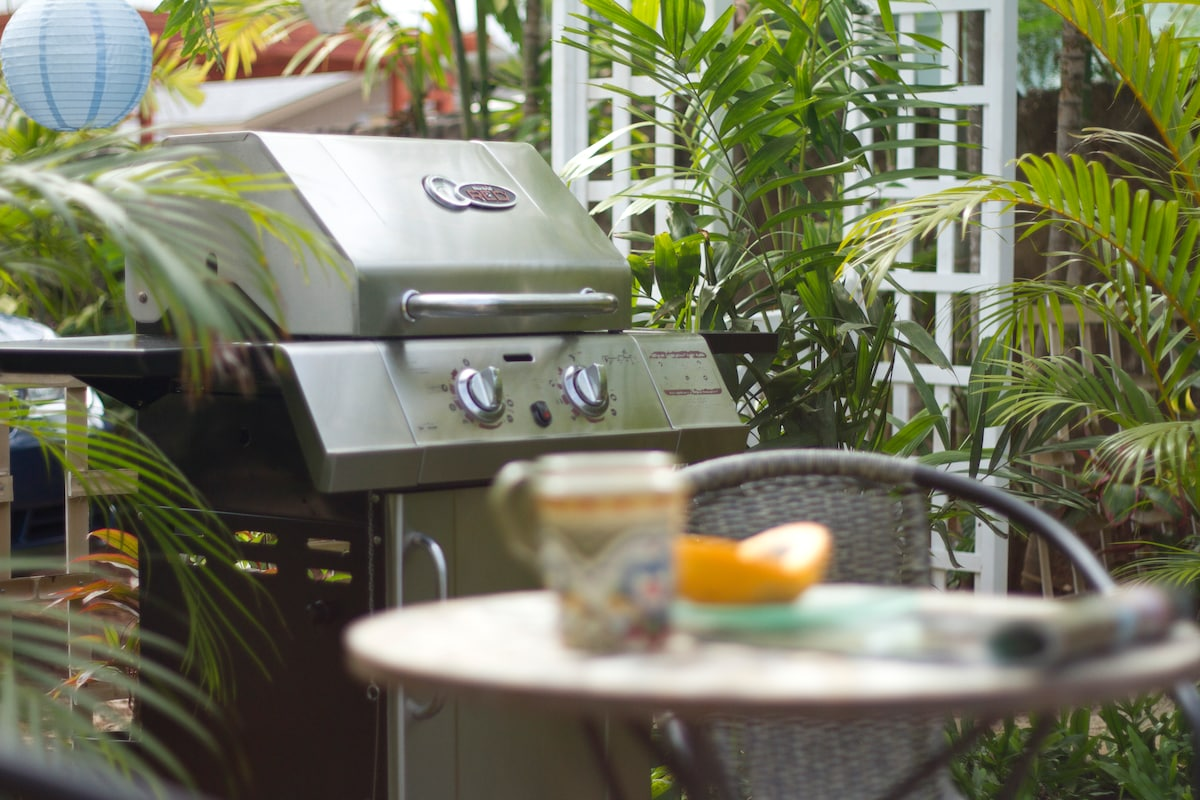 Enjoy dining at home with your barbeque...