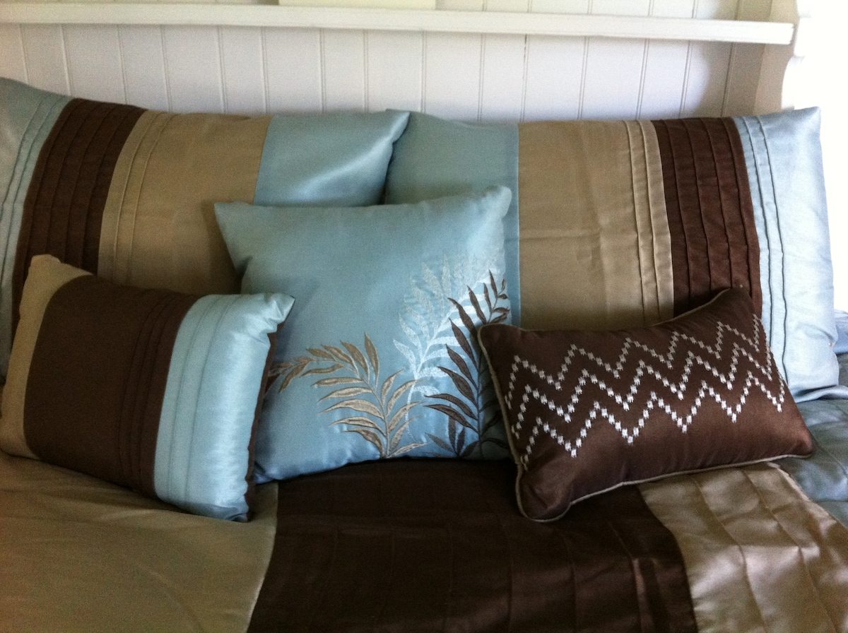 Brand new pillow set with two memory foam pillows.