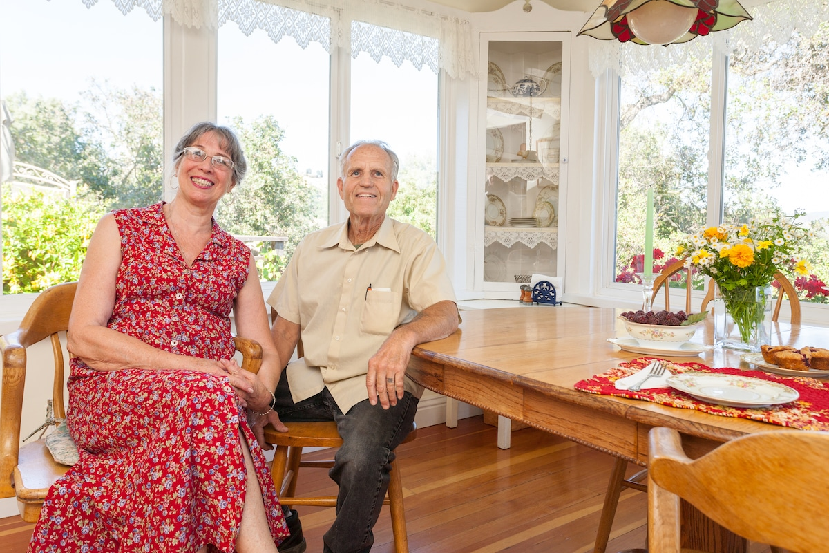 Your hosts Rob and Joanna Short Always flexible and willing to share the blessings of  Home Haven with those who need a peaceful  healing respite .