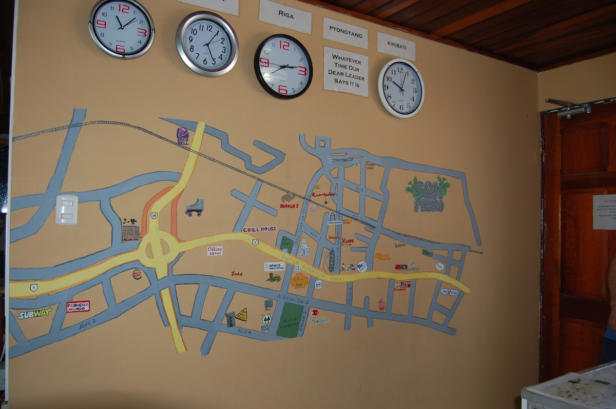 Wall Map of San Pedro