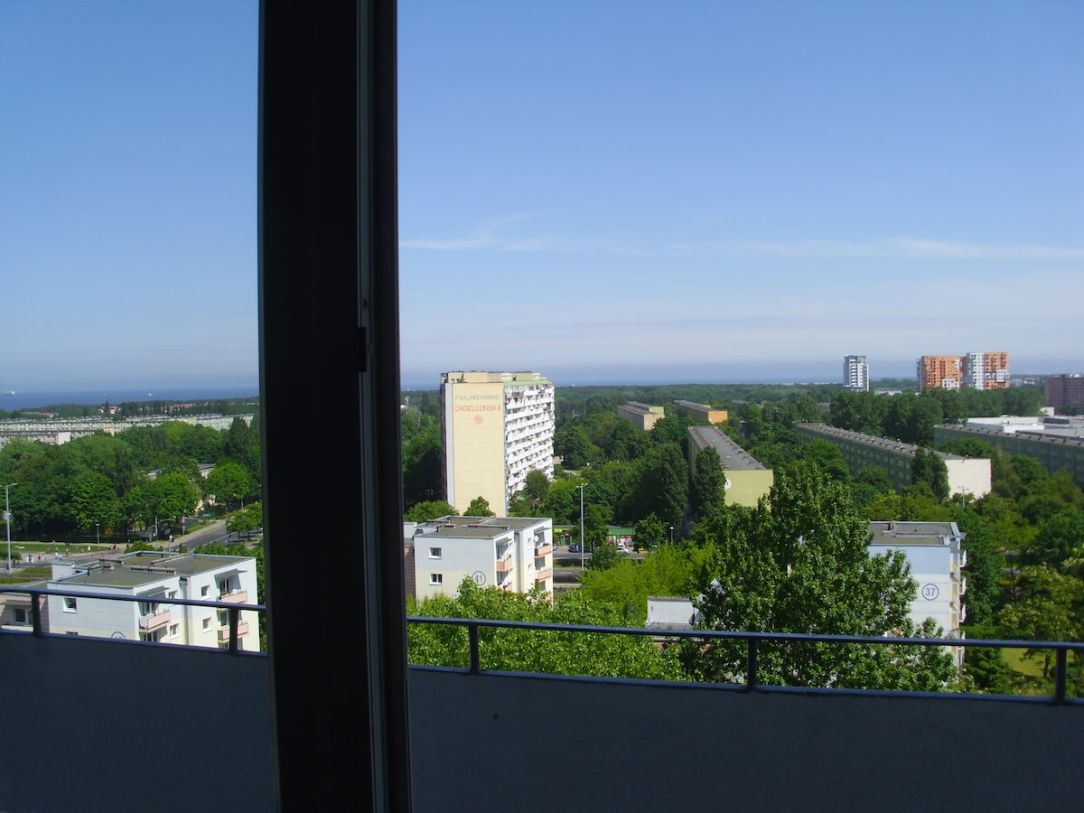 Rooms in Gdansk - sea view