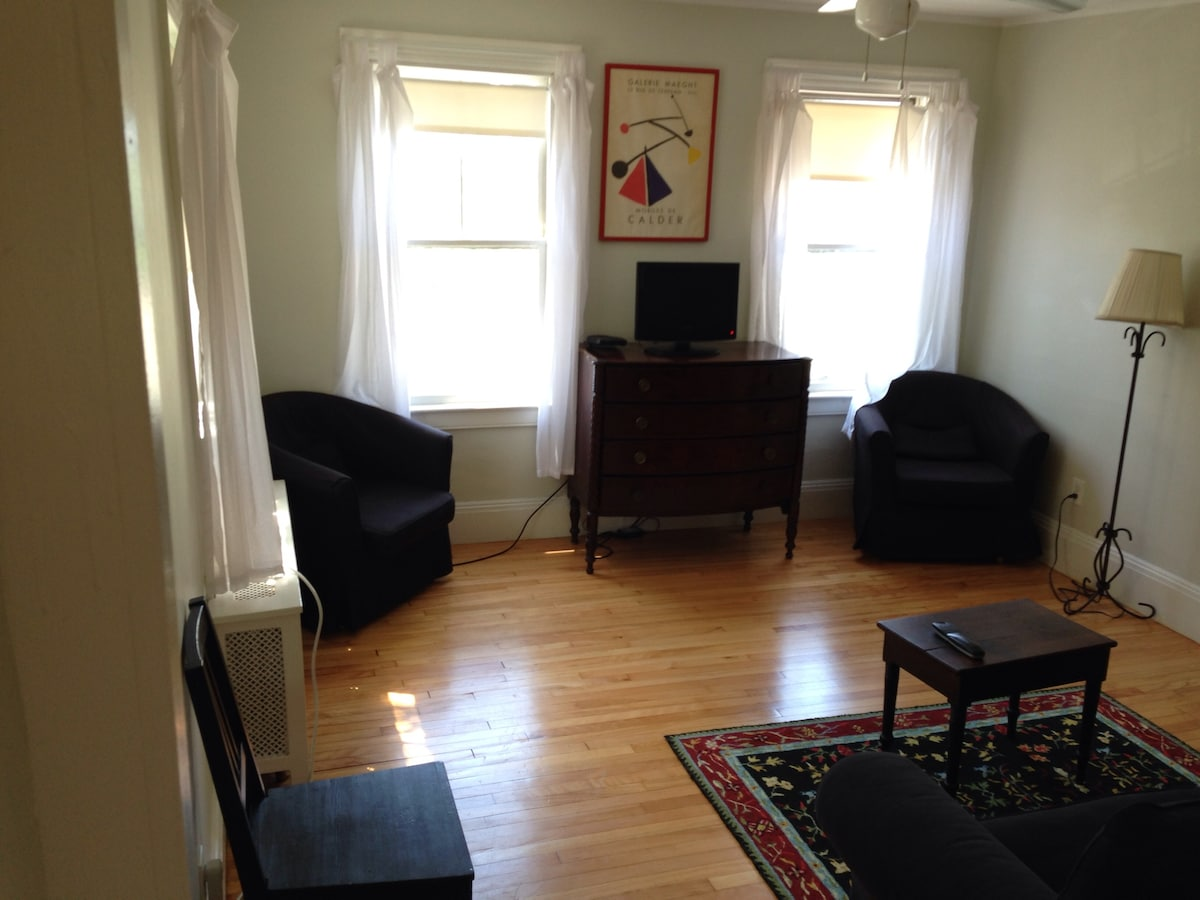 Living room, foldout sofa, small cable TV
