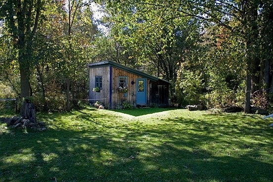 The Rustic Cabin ( from lawn) offers total privacy to our guests.