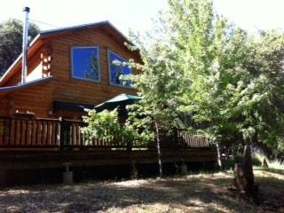Rustic log home
