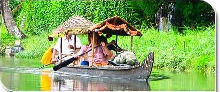 Houseboat in beautiful greenery