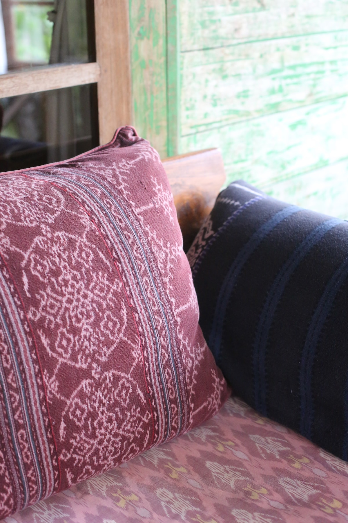 Indonesian woven ikat fabrics