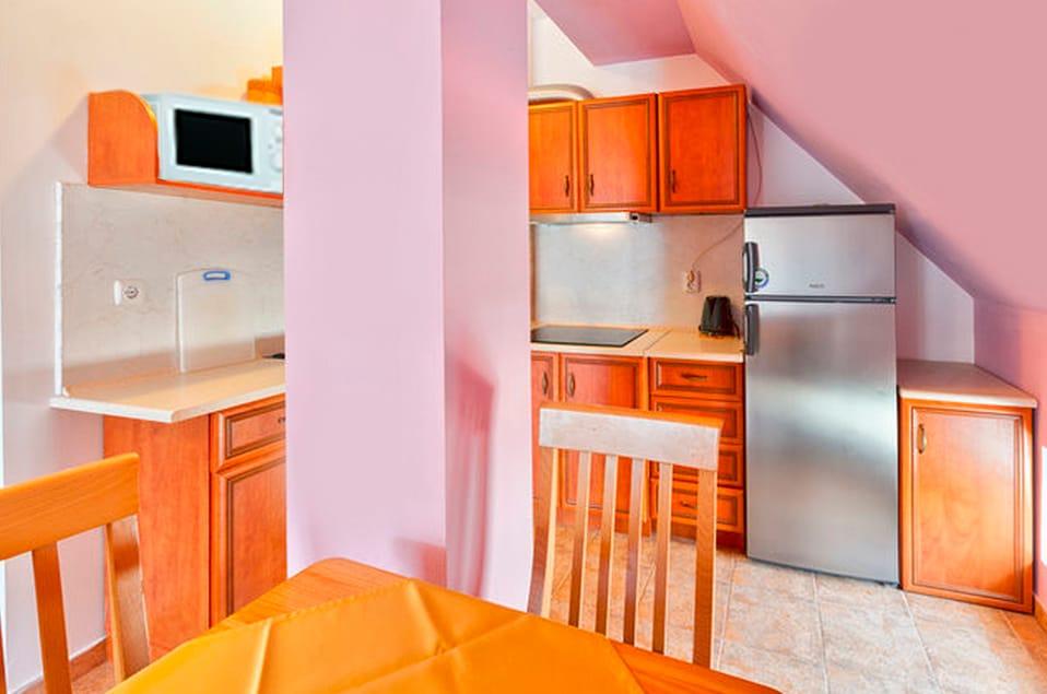 Новый двухкамерный холодильник, эл.чайник, микроволновка, 4х конфорочная керамическая плитка, вытяжка, мойка.