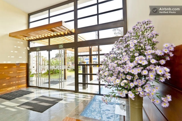 An elegant and Classy entrance , always with fresh flowers !