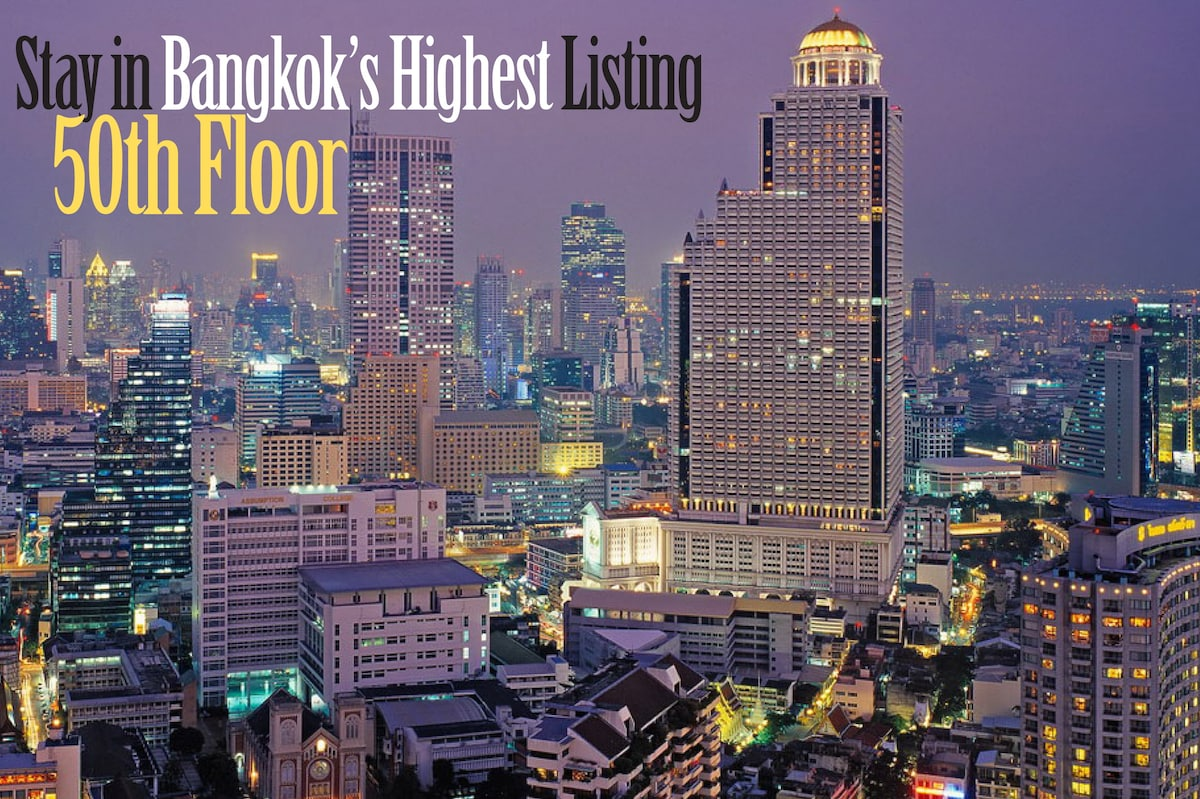 Stay in the highest listing on airbnb Bangkok!