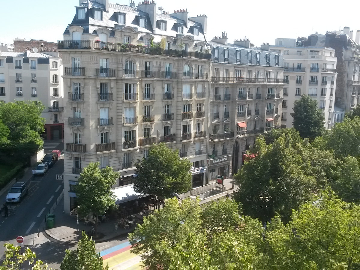 View from the living room, Place Martin Nadaud 75020 Paris