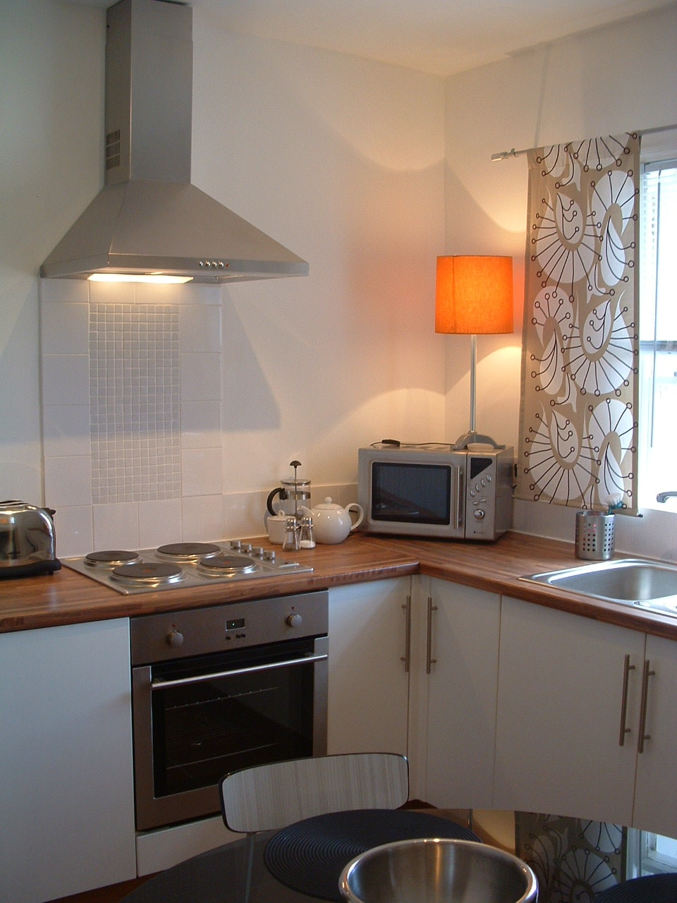 corner of kitchen.
