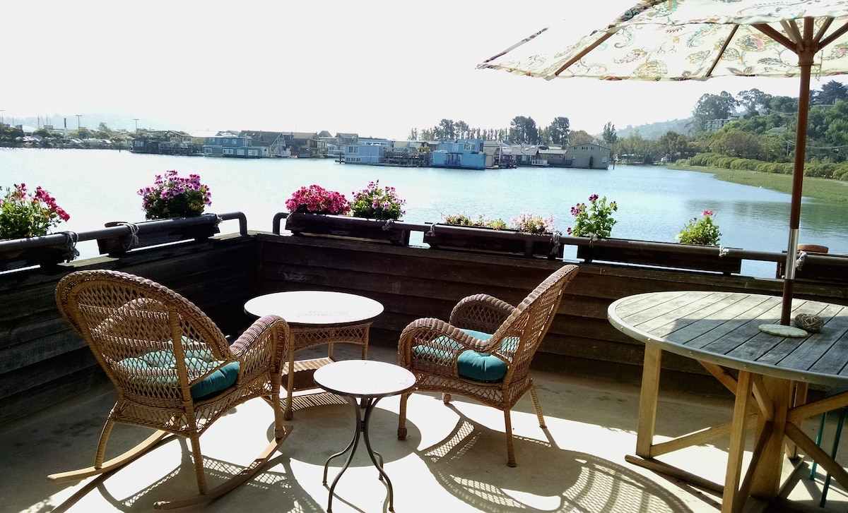 Enjoy a cup of coffee or glass of wine on the deck.