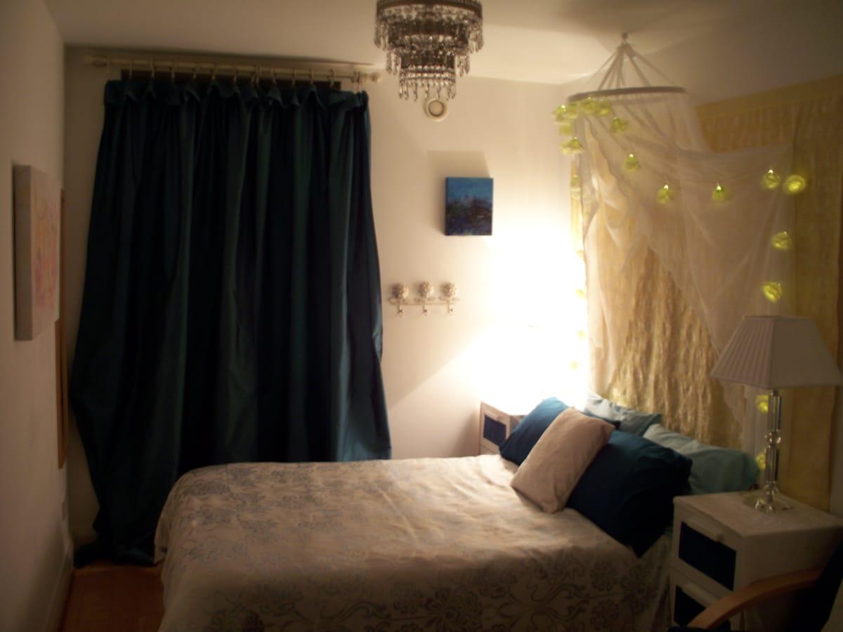 True centre! Quiet garden room