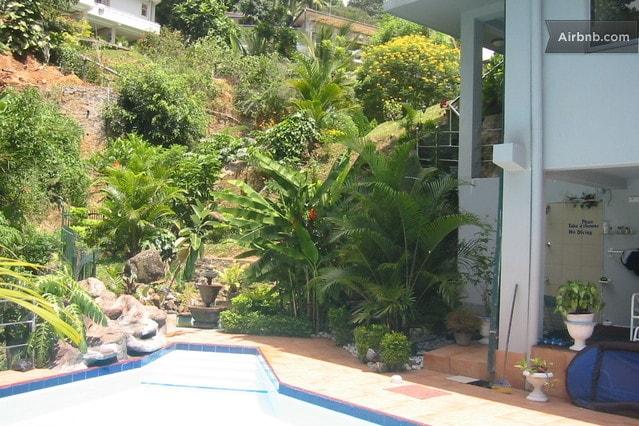 Pool area, below