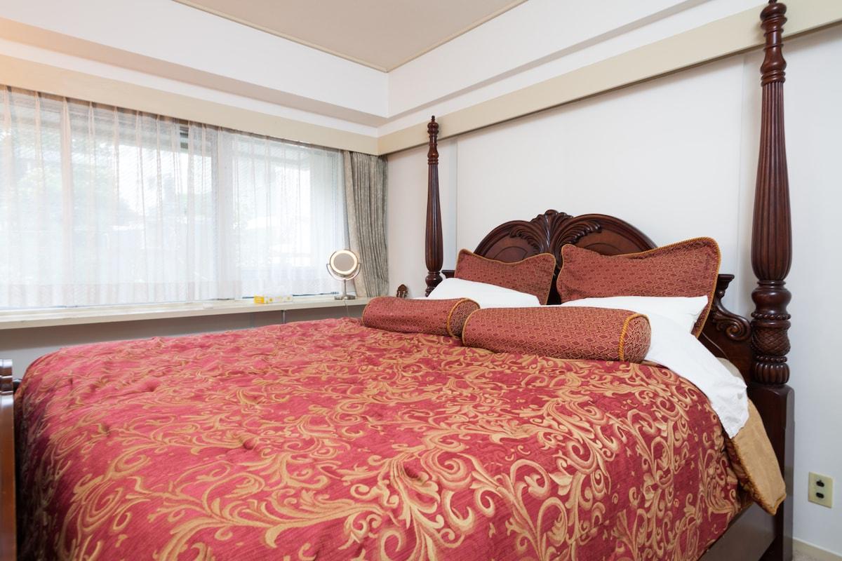Super King Size Bed in Master Bedroom.
