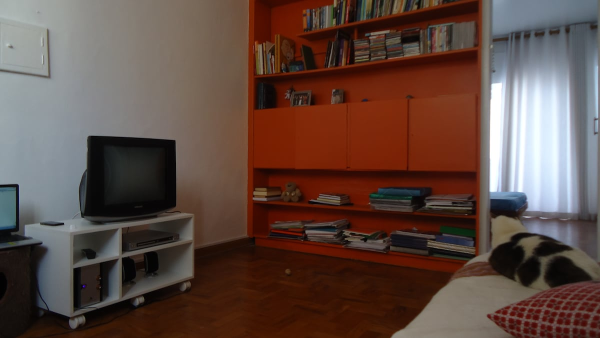 lighted living room, cable TV and wi-fi