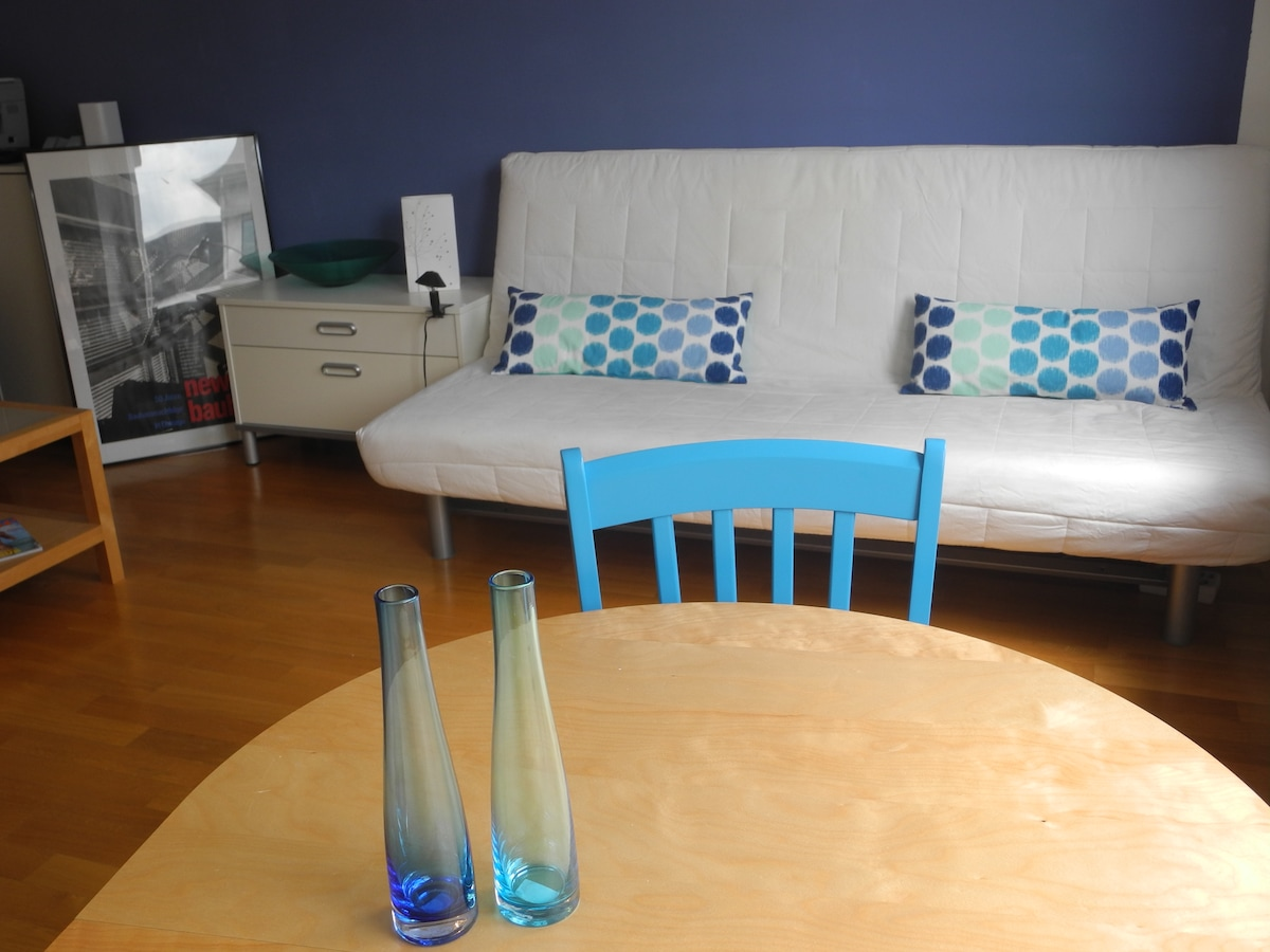 Blue Bedroom with  sofa bed