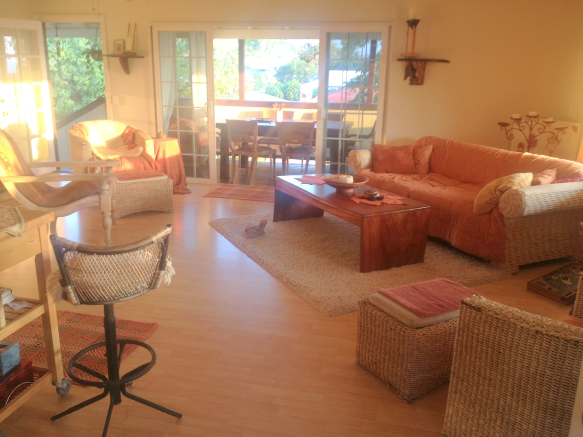 spacious living room used by all- guests included