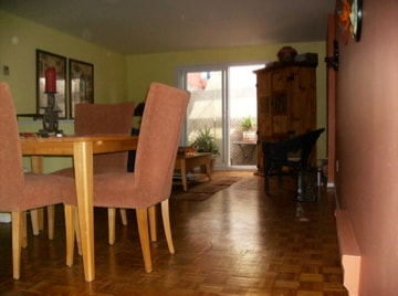 Living Room / Dining Room combo.  Large and bright.  A great place to relax and put your feet up.