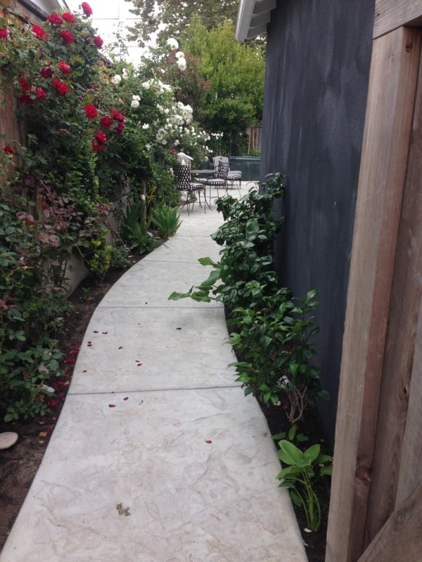 The pretty pathway to your private  entrance.