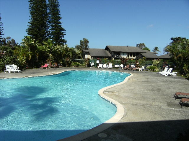 Largest private pool in Princeville with bbq pavilion across lot from unit