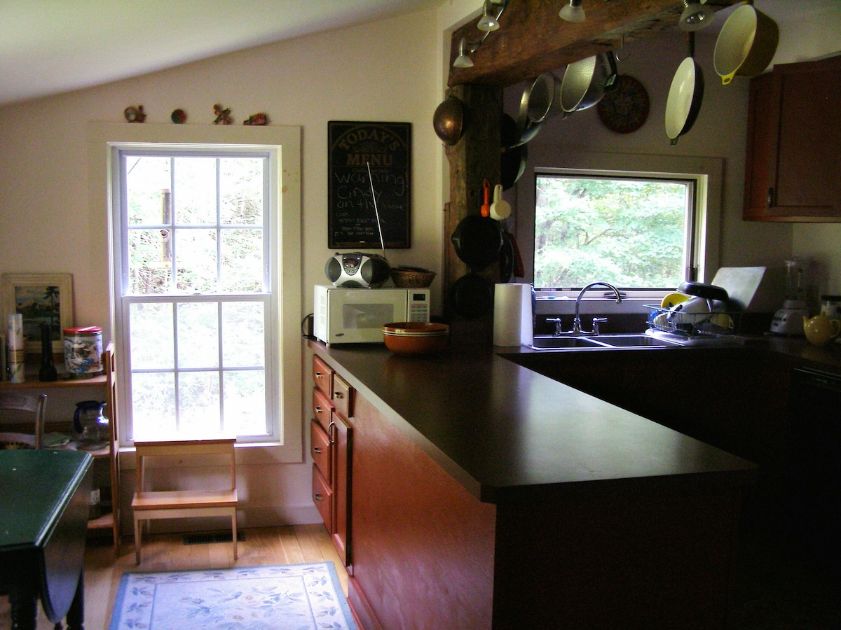 Kitchen with lots of work space
