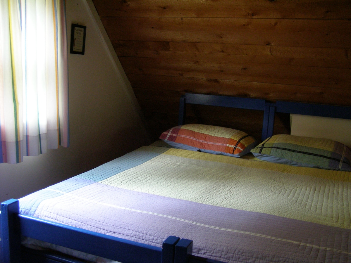 One of the upstairs bedrooms