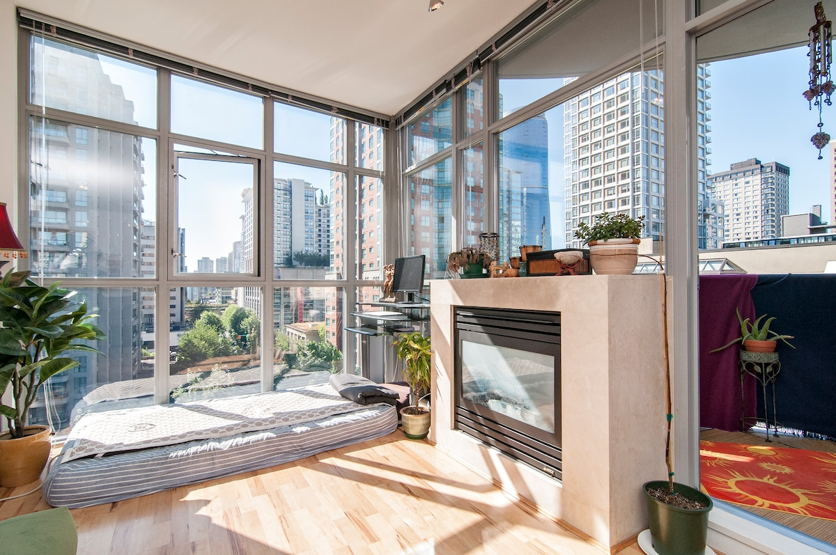 Balcony for Summer - Fireplace for Winter