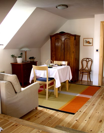 Artist apt in historic Krumlov