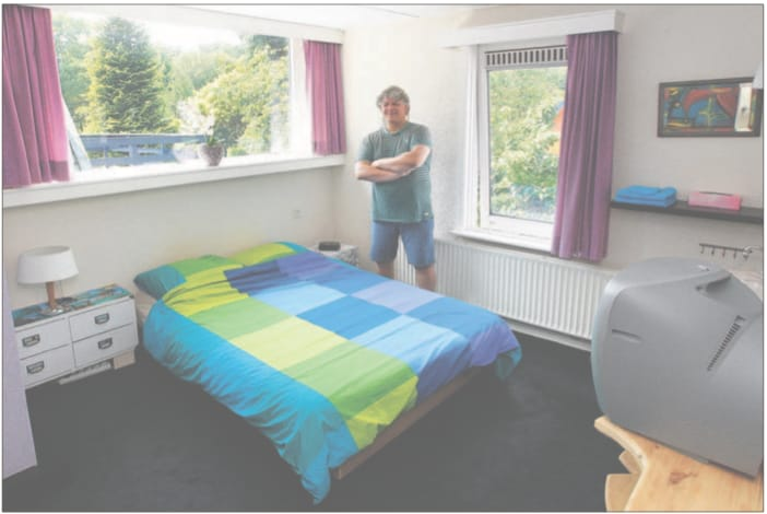Nice light room with double bed