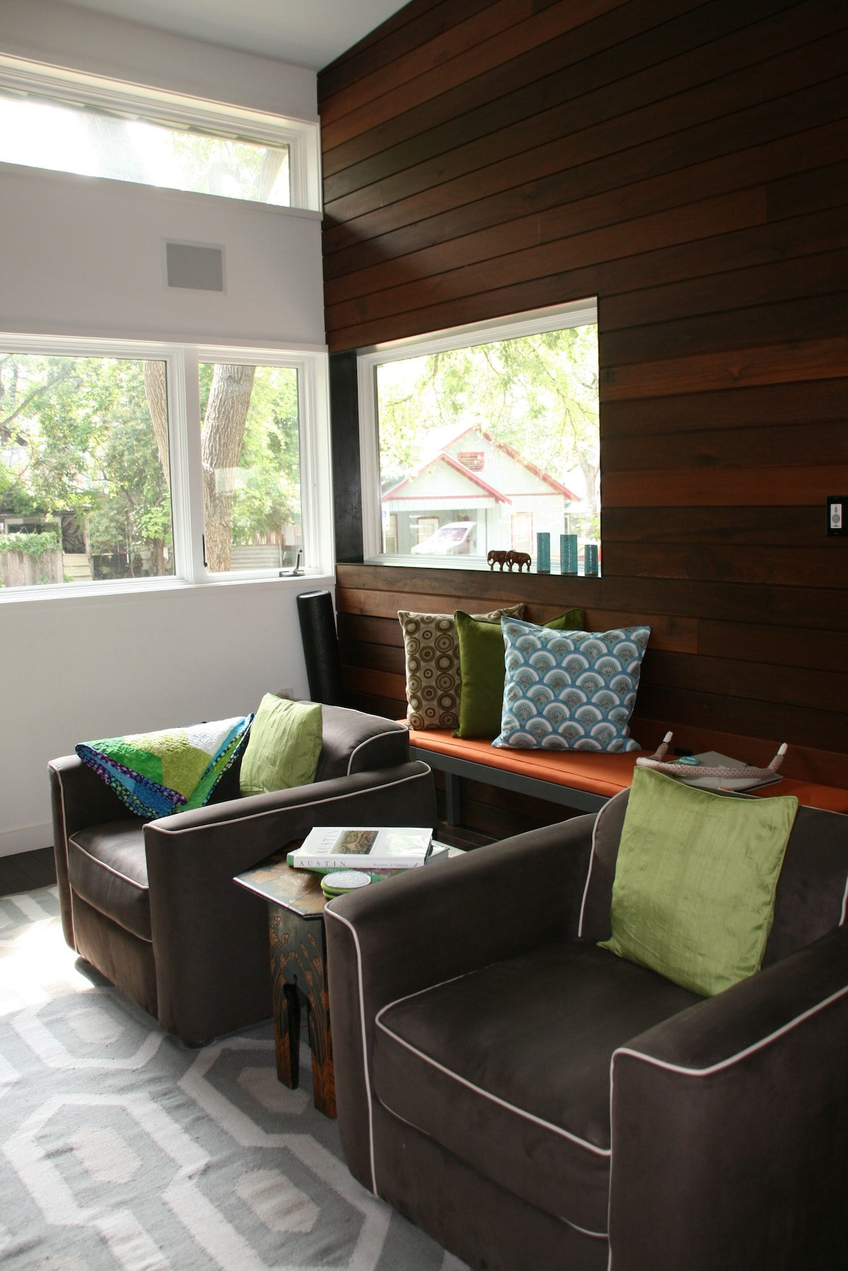 Living area- natural light but house stays cool since indirect