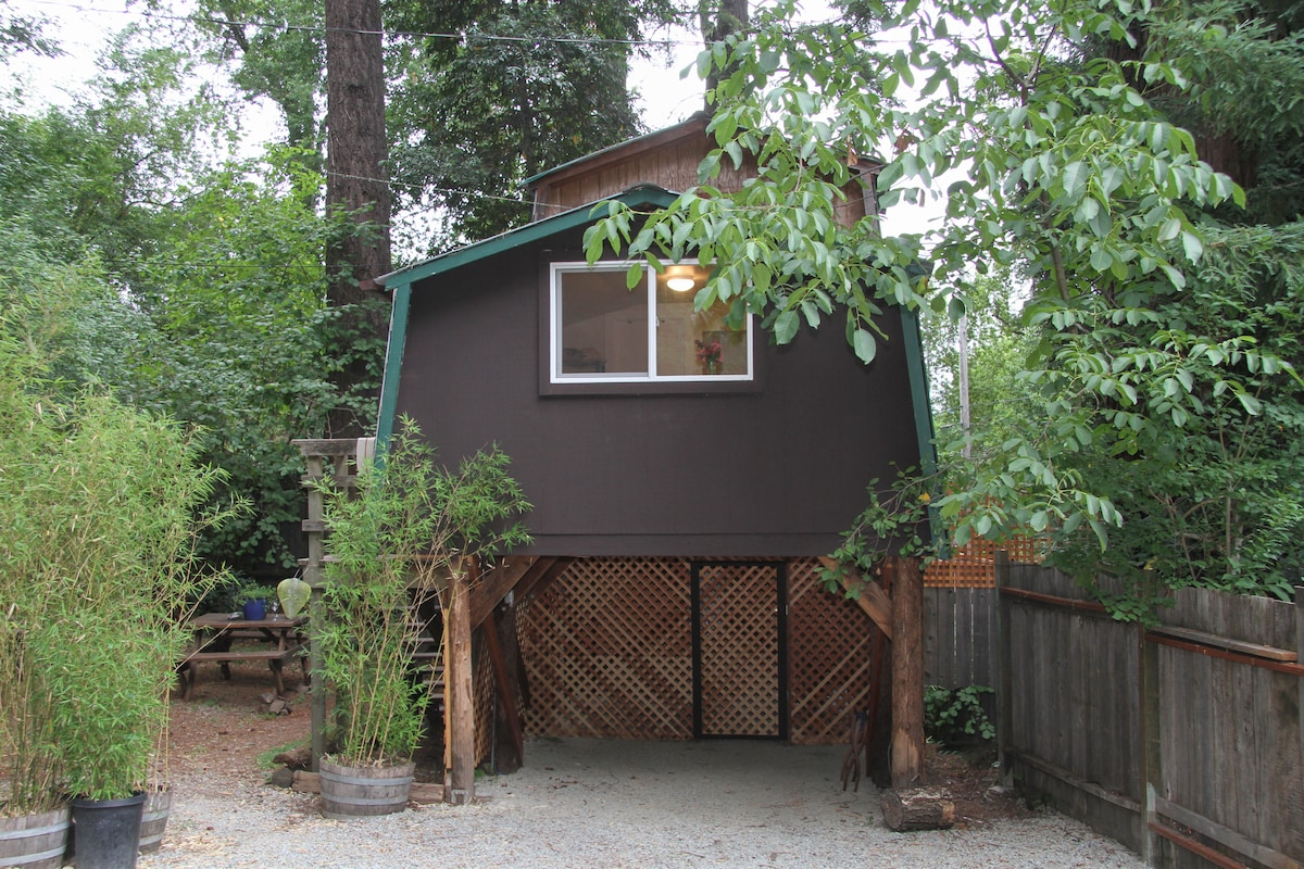 Cozy carriagehouse in the redwoods