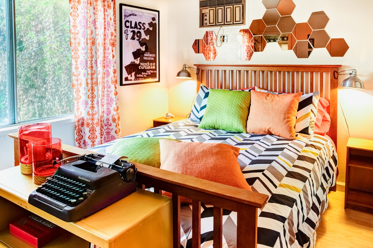 Colorful Queen size bed