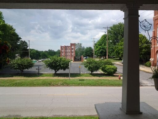Wentworth Military Academy as seen from front porch. Only 1 block away.