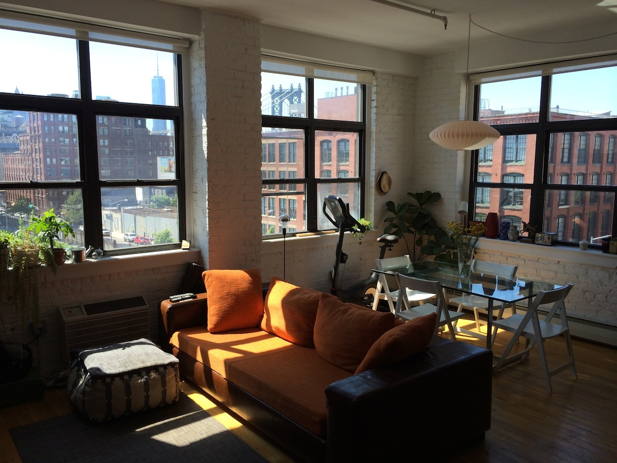 Spacious corner apartment in DUMBO