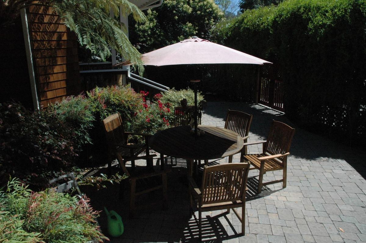 Lush and private garden