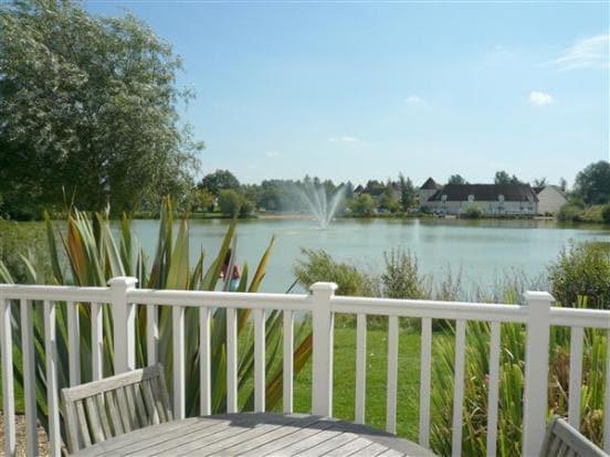Lake side location on gated estate